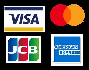 クレジットカード取扱ロゴ